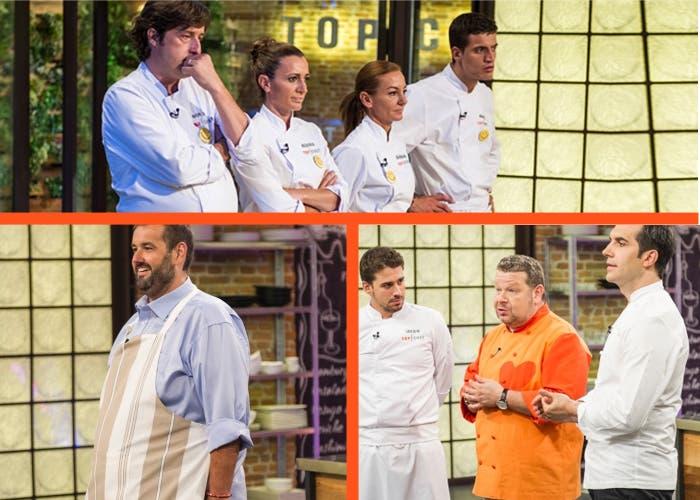 Varios momentos del programa Top chef en su cuarto programa