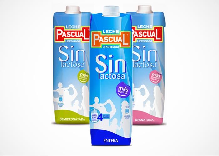 Productos leche Pascual sin lactosa, entera, semidesnatada y desnatada
